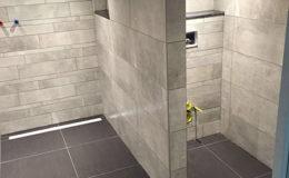 Badkamer keramische tegels betonlook
