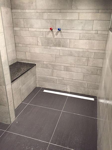 Wanden Voor Badkamer.Badkamer Keramische Tegels Betonlook
