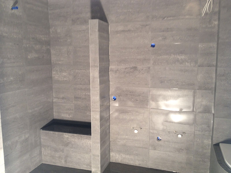 Badkamer tegels betonlook