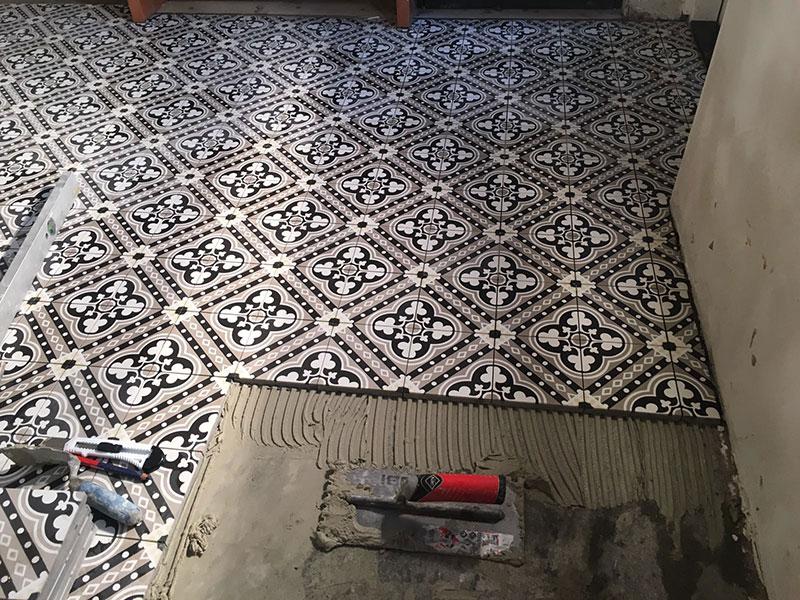 Vloer mozaiek tegels