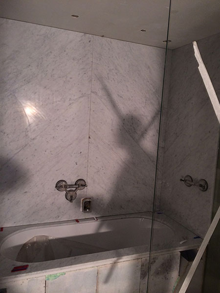 Badkamer natuursteen marmer