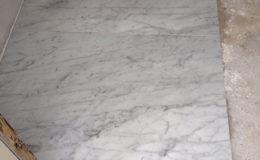 Vloer natuursteen marmer bianco carrara